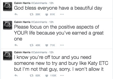 Calvin Harris blasts ex-gf Taylor Swift on Twitter