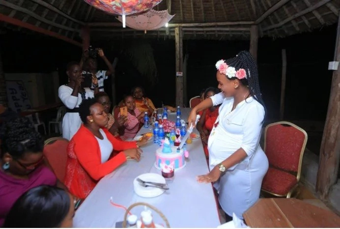 HOT radio girl flaunts her bulging baby bump as friends surprise her with an auspicious baby shower (Photos)