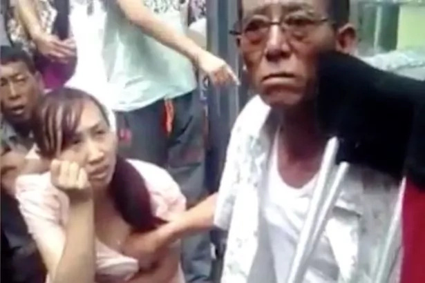 Chinese mystic can tell the future by touching women's breasts
