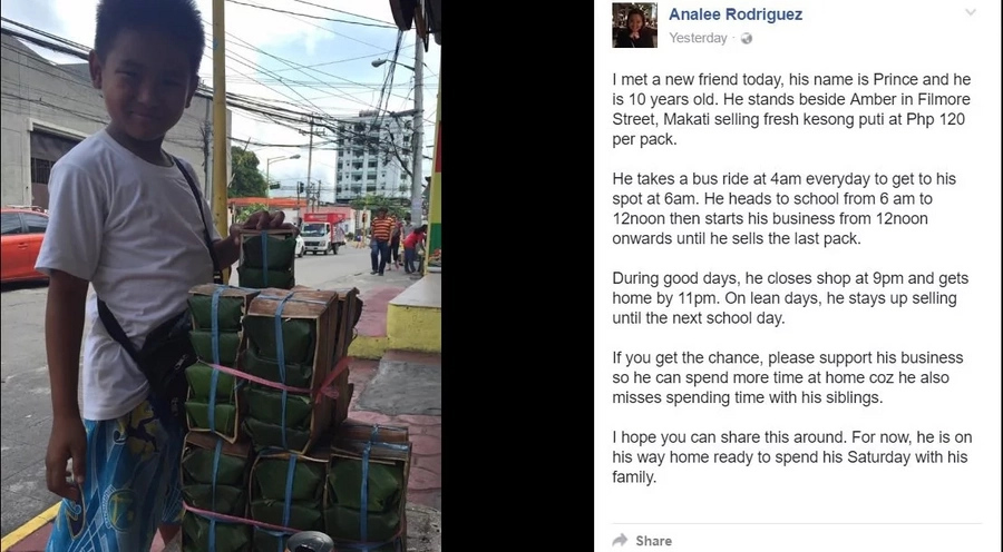 10-yr-old boy sells kesong puti to support family