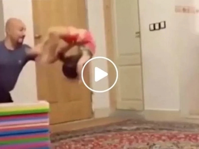Kid executes jaw-dropping stunts leaving netizens having mini heart attack