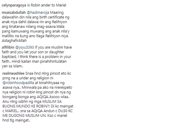 Under daw si Robin? Netizens bash Robin and Mariel Padilla after Catholic baptism of daughter