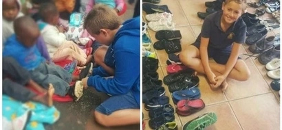 Boy, 9, collects over 2500 pairs of shoes to help homeless kids, reason why will TOUCH your heart