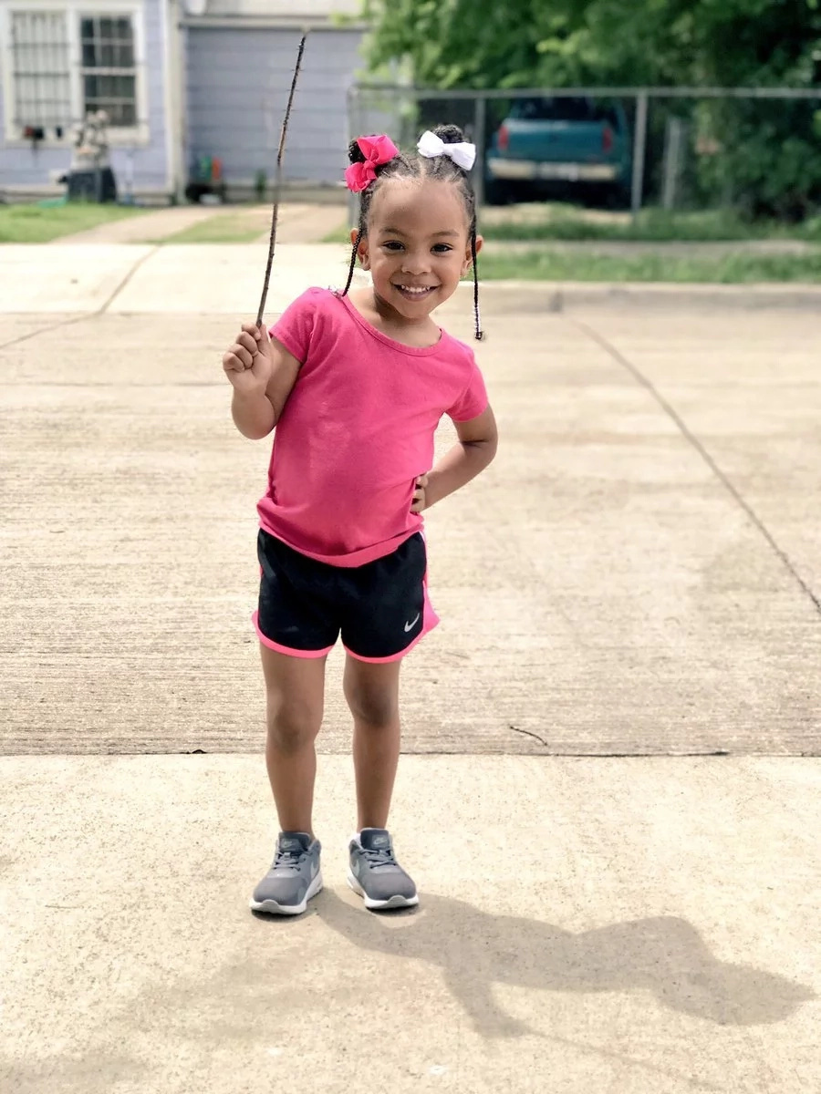 Girl displays simple stick she found on a walk and the world ADORES her for it (photos)