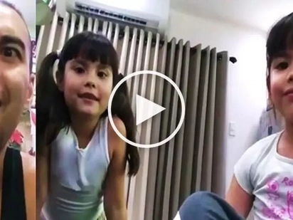 Watch Kendra wow her dad Doug Kramer by translating English Bible verse into Chinese!