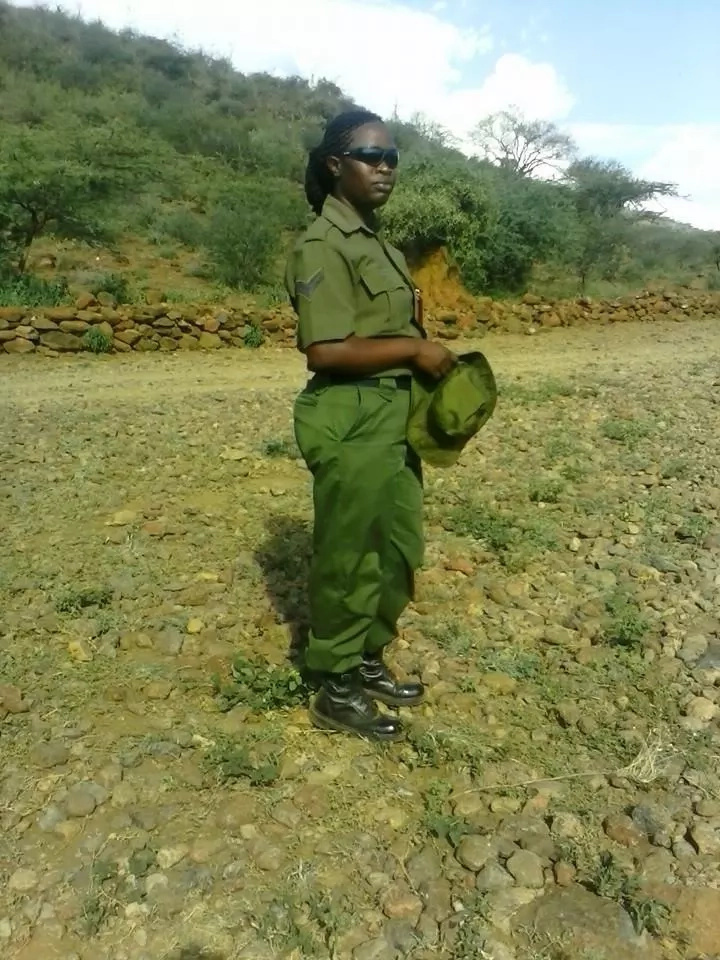 Pictures of the female police officer who shot herself at JKIA