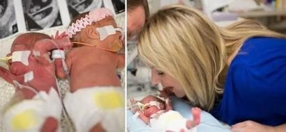A ésta madre no le dejaron ver a sus trillizos la primera semana, pero después sólo vió a dos bebés...
