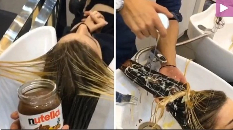 Woman trusts popular hairstylist to dye her hair, then he dumps Nutella on her head