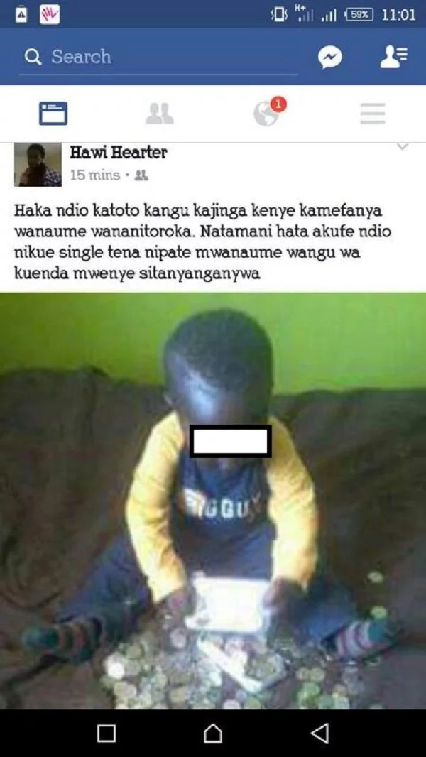 Kenyan single mum makes a TERRIFYING update about her young son