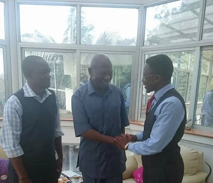 Ababu Namwamba visited Awori at his home in Lavington, Nairobi.
