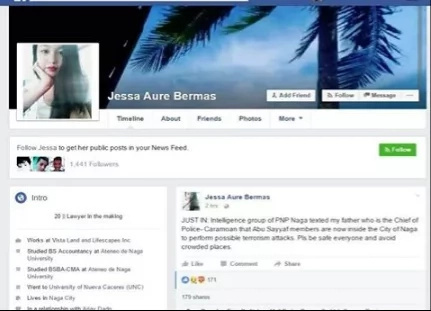 Police chief in trouble after daughter posts Abu threats on FB
