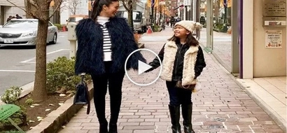 Stepmom Heart Evangelista bonds with Chiz's daughter, Chesi, in Japan