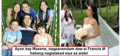 Nagparamdam daw ang ama! Maxene Magalona believes that his late dad Francis M was present at her wedding
