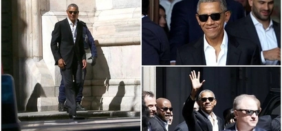 Cool ex-President! Barack Obama looks like a MOVIE STAR during visit to Milan (photos)