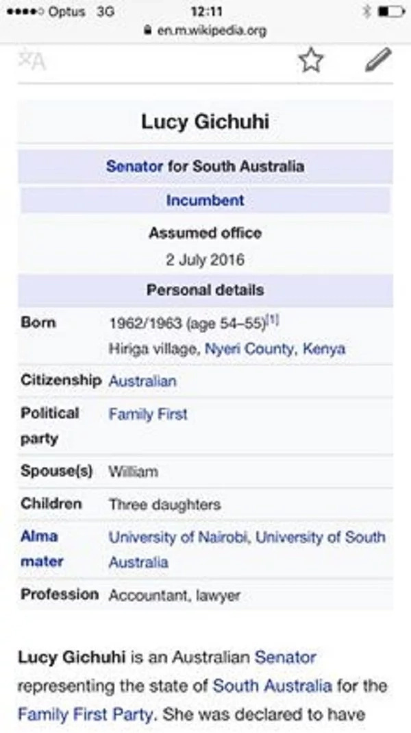 After Obama, Kenyan born woman elected Senator in Australia