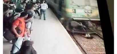 Teenage hit by train in India but survives