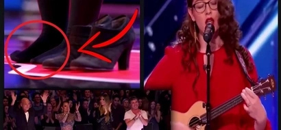 This singer needed to perform without her shoes on at America's Got Talent. The reason why will make you emotional.