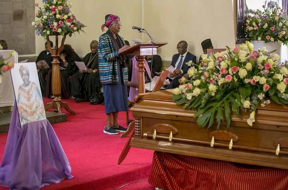 Uhuru's sister's funeral
