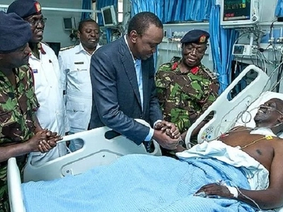 Photos of KDF doctors saving the BAD situation at KNH