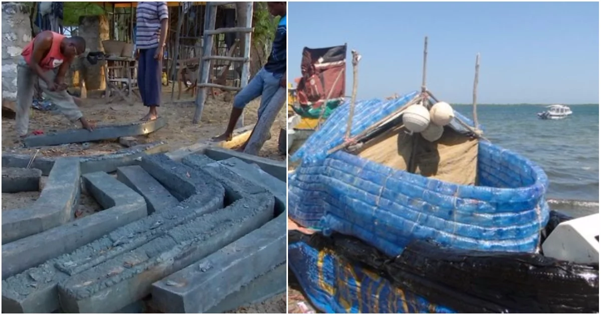 Genius craftsmen recycle plastic bottles, turn them into fishing boats (video)
