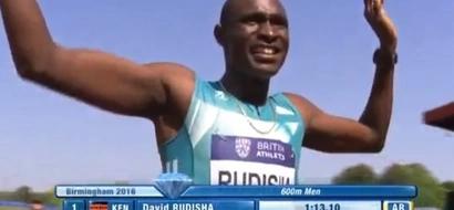 Just in: King David Rudisha wins 600m