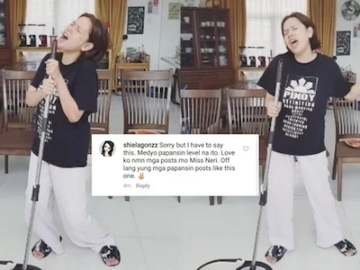 Neri Naig-Miranda has a dare for the basher who called her 'papansin' on Instagram