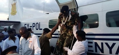 Photos: Anti-riot police injured in CORD demos airlifted to Nairobi