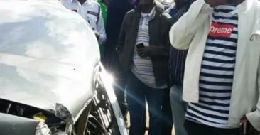 Mike Sonko Survives Road Accident