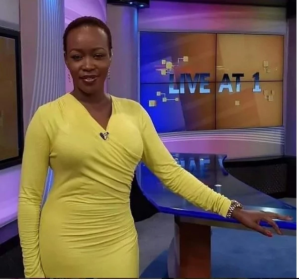 Citizen TV's news anchor shows off a hidden tattoo on her boob (photo)