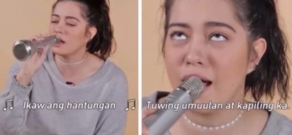 Nasa kanya na lahat! Sue Ramirez channels her hilarious singer side as she accepts this musical challenge