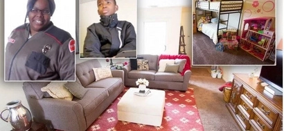 Homeless single mom and 4 kids surprised with FULLY FURNISHED home after years of living on the streets