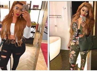 Vera Sidika staggers male fans after stepping out in a see-through little black dress while on holiday in California