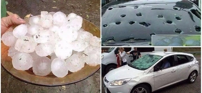 Angry nature! These photos and video of violent hailstorm will send a chill down your spine