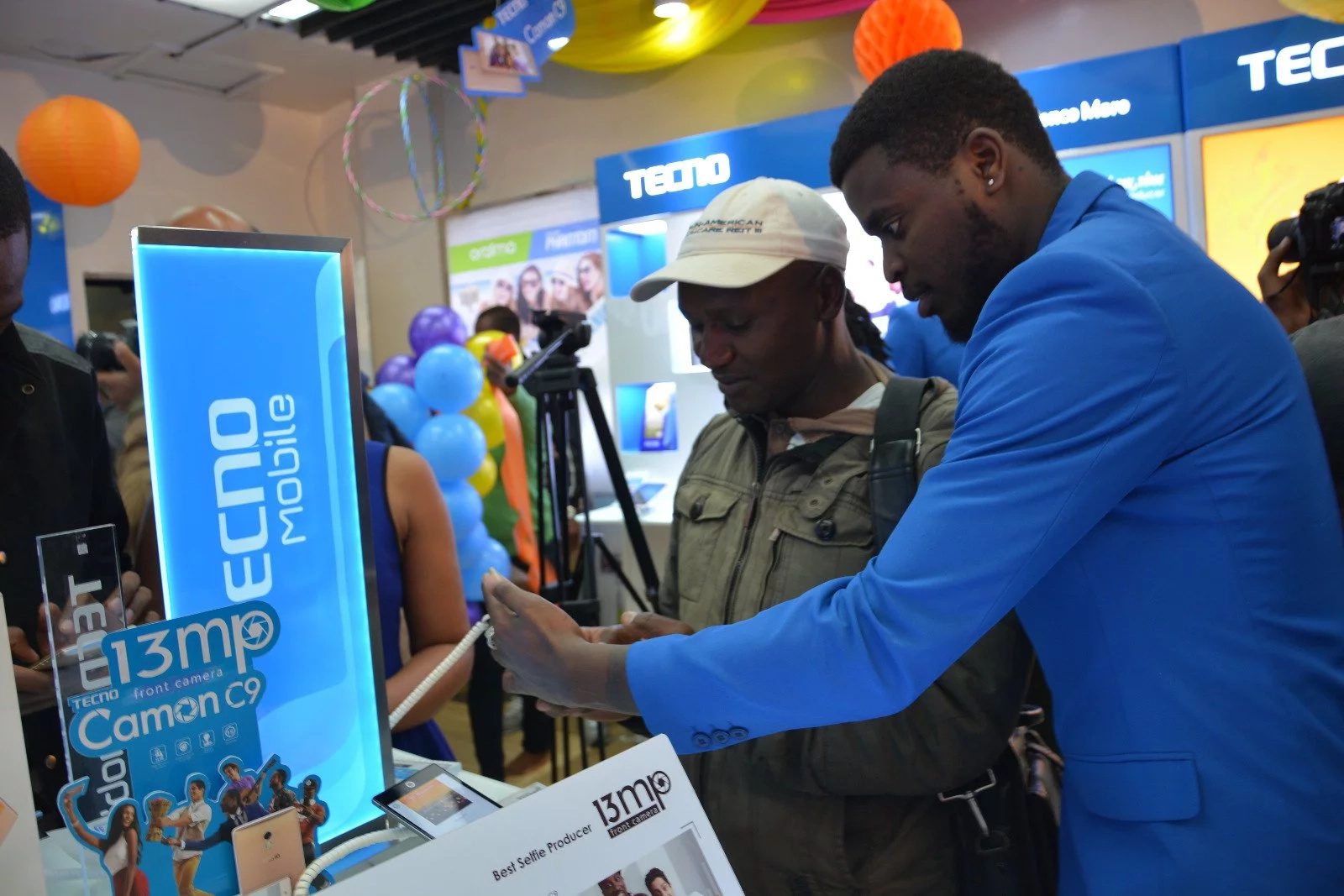 Photos from the launch of the Tecno Camon c9 launch in Kenya