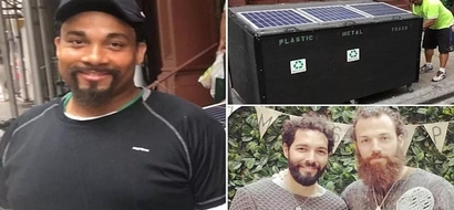 Homeless man lives in $1.500 DUMPSTER complete with solar panels and USB ports for 10 months (photos)