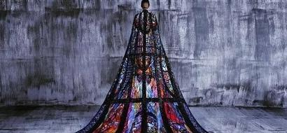 JLo showcases Michael Cinco's stunning creation