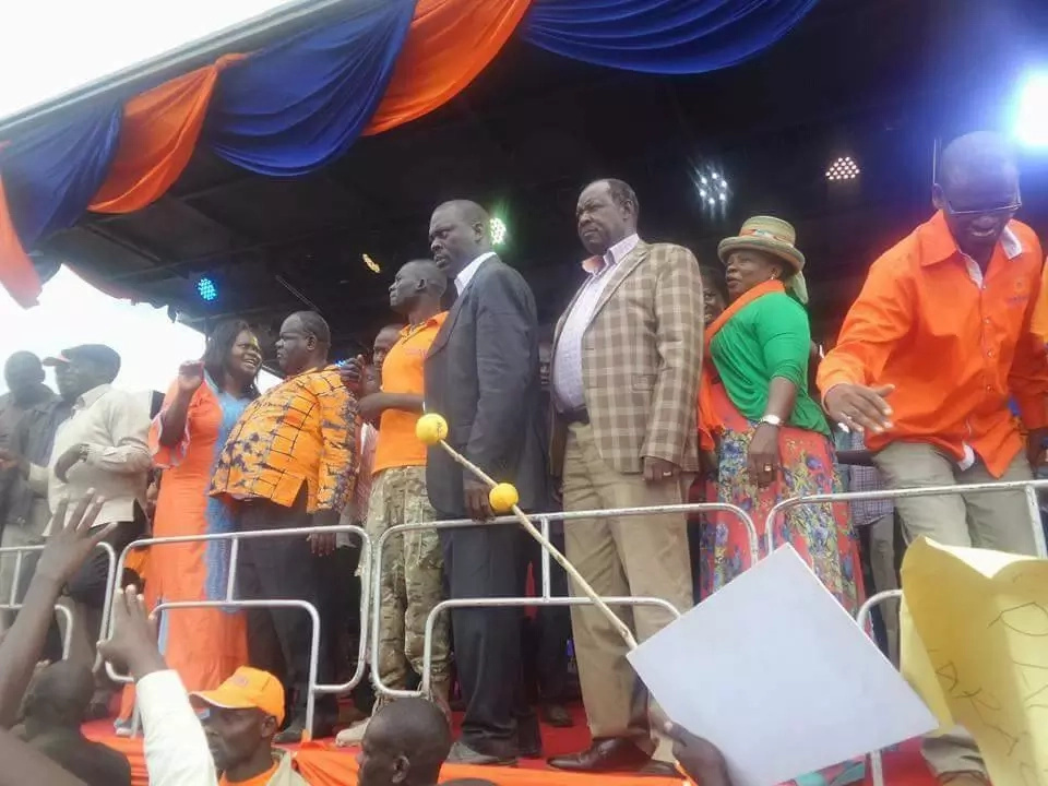 Homa Bay governor heckled in front of Raila Odinga