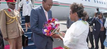 PHOTOS: How President Uhuru was received in Ethiopia