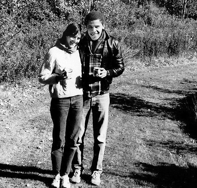 Obama with his first girlfriend, Genevieve Cook