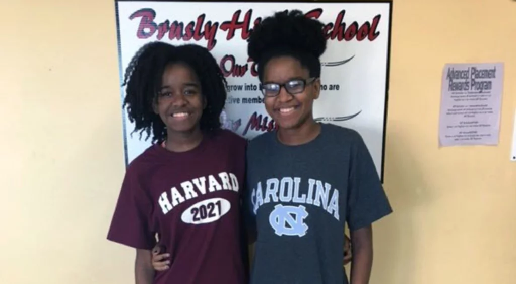 Black twin sisters reveal their magic secret after both graduated top in class