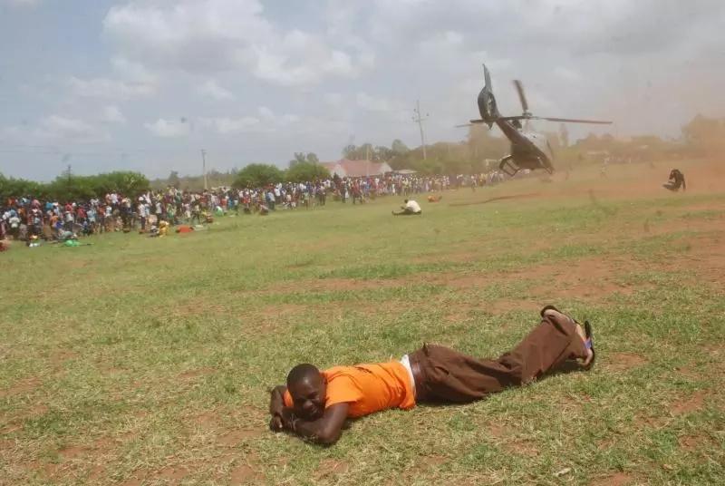 Man dives under Mudavadi chopper