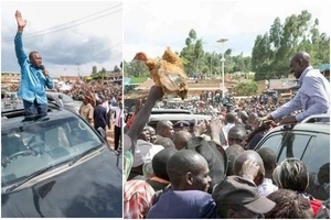 Uhuru receives ROUSING welcome in Raila Odinga's STRONGHOLD