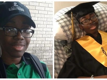 Cancer stricken student receives high school diploma before passing away