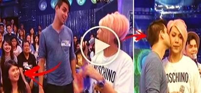 Watch Vice Ganda get a kiss from a foreigner in front of his Pinay girlfriend! This moment shocked the audience!