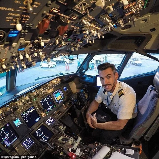Is this real? Pilot takes selfies while poking his head out of window mid-flight, people react