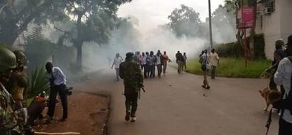 Police officers tear gas nursery kids in Kisumu in pursuit of protesters