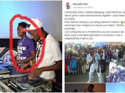 Kenyans plead with fast rising MC turned thug to surrender to avoid meeting Hessy's fury