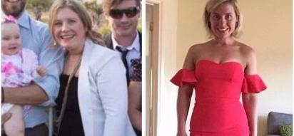 Healthy mummy! Mom-of-three, 30, shows off amazing body transformation after shedding 25kg