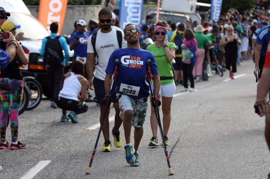 Este deportista demuestra que tener una discapacidad no es sinónimo de incapacidad