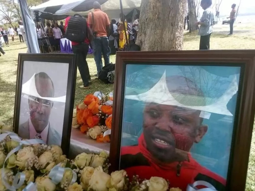 farewell event for the two victims of the Lake Nakuru helicopter crash